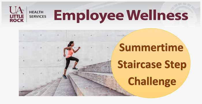 UA Little Rock faculty and staff members are invited to join the employee wellness program that lasts from June 18 to July 29.
