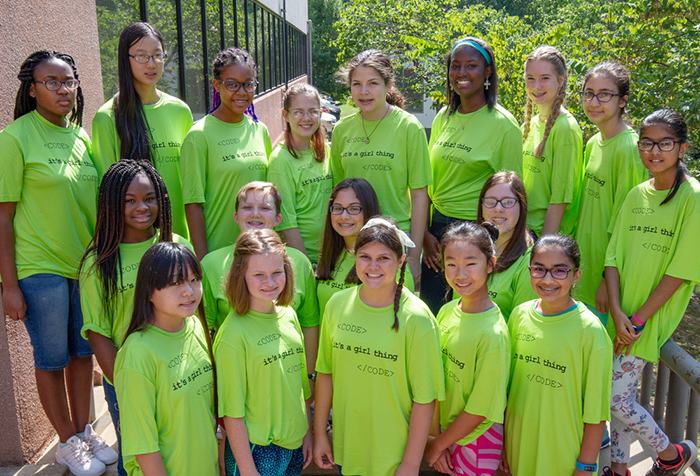 Girls from across Arkansas are participating in UA Little Rock's Girls Code Camp this summer.