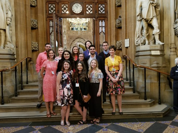 While touring Parliament, the study abroad group met with a member of the Scotland Nationalist Party, Alison Thewliss,