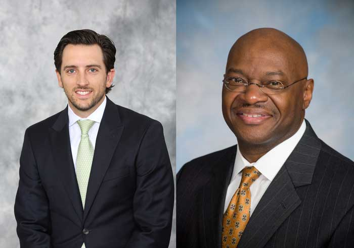 The University of Arkansas at Little Rock will honor Marcus Guinn, executive vice president and loan manager at Arvest Bank, as the College of Business Distinguished Alumnus of the Year, as well as Drew Holbert, principal and vice president of brokerage at Colliers International, as the Dean's Award for Excellence winner at the 2018 College of Business Distinguished Alumni Luncheon on Oct. 17.