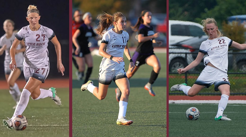 Three members of the Trojan soccer team were named to the Sun Belt Preseason All-Conference team.