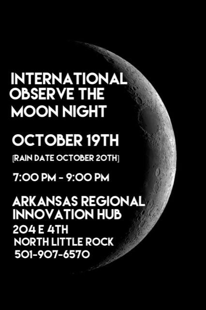 Anyone who is interested in getting a closer look at the surface of the moon can join the International Observe the Moon Night festivities Friday, Oct. 19, for a full night of lunar viewing.