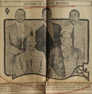 An old newspaper article shows the Johnston brothers who were killed in the Elaine Massacre in 1919.