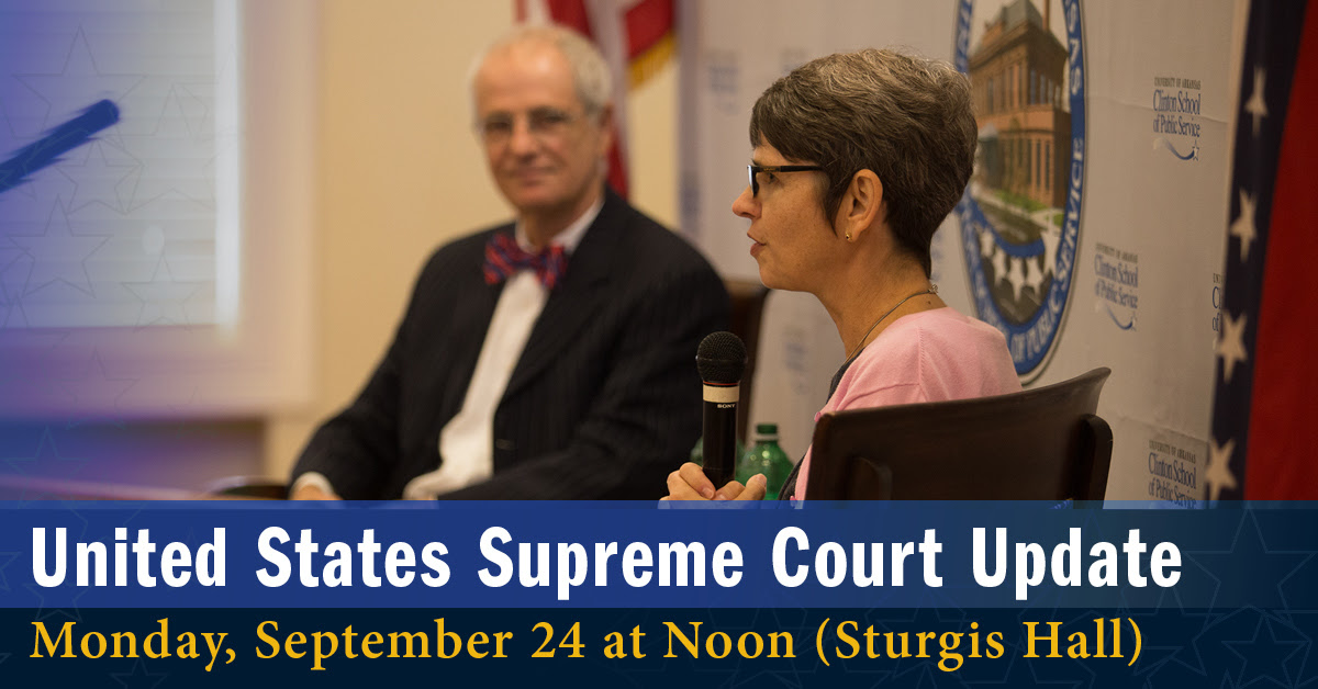 Theresa Beiner, dean of the UA Little Rock William H. Bowen School of Law, and John DiPippa, dean emeritus, will give an update on the U.S. Supreme Court on Monday, Sept. 24.