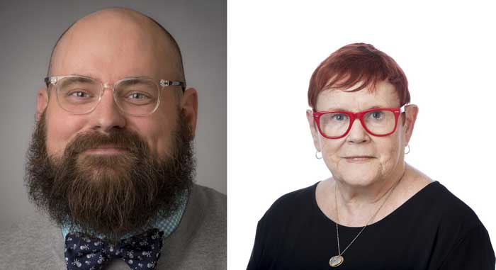 Dr. Paul Crutcher (right) and Dr. Judith Hayn (left)