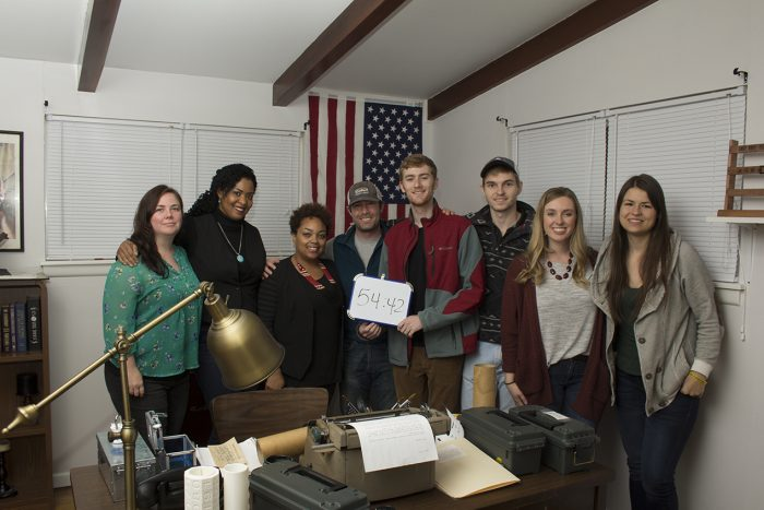 Student attorneys from The Business Innovations Legal Clinic at UA Little Rock's William H. Bowen School of Law participate in the Underground Escape.