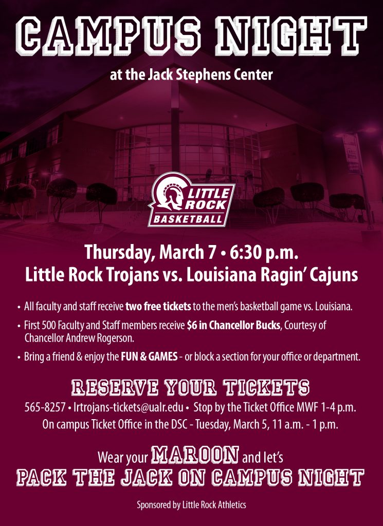 Campus Night is March 7.