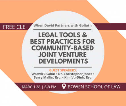 The Business Innovations Legal Clinic at the University of Arkansas at Little Rock William H. Bowen School of Law will host a free, two-hour course on community-based real estate development and joint ventures on Thursday, March 28.