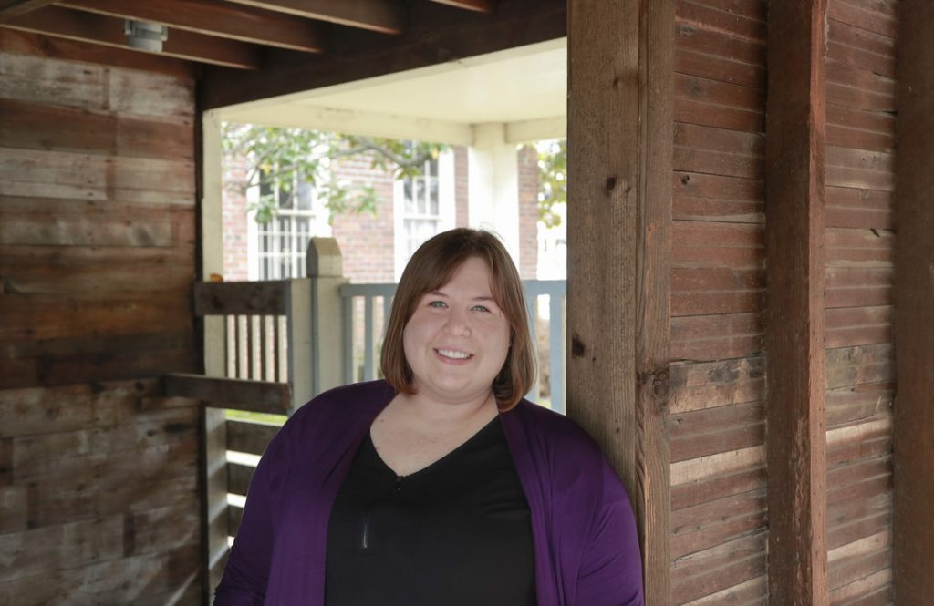 Nicole Ursin, the 2019 Whitbeck award winner, has worked at the Arkansas Historic Museum for two years. Photo by Benjamin Krain.