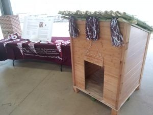 UA Little Rock students won first place in the Sustainability Competition for their build of this sustainable dog house.