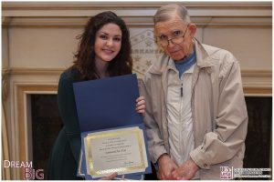 Samantha Poe, recipient of the Jane and John Thompson Endowed Scholarship, is shown with donor John Thompson.
