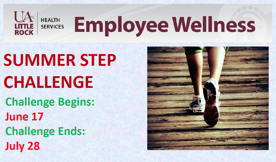 UA Little Rock faculty and staff members are invited to join the employee wellness program from June 17 to July 28.