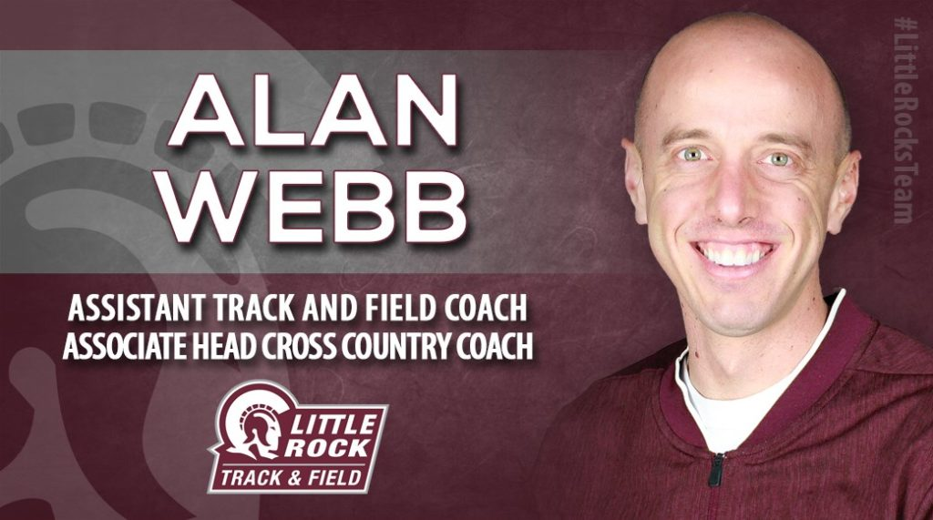 An Olympian and American record holder in the mile and high school mile, Alan Webb has joined the Little Rock staff as an associate head cross country and assistant track coach going into the 2019-20 season.
