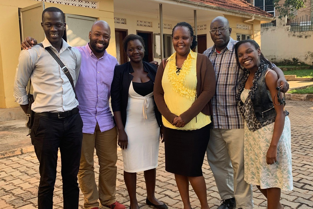 Jerome Wilson (second from left) recently completed his International Public Service Project with African Prisons Project, a nonprofit organization with the vision to empower changemakers within prisons by providing them with legal training and services.