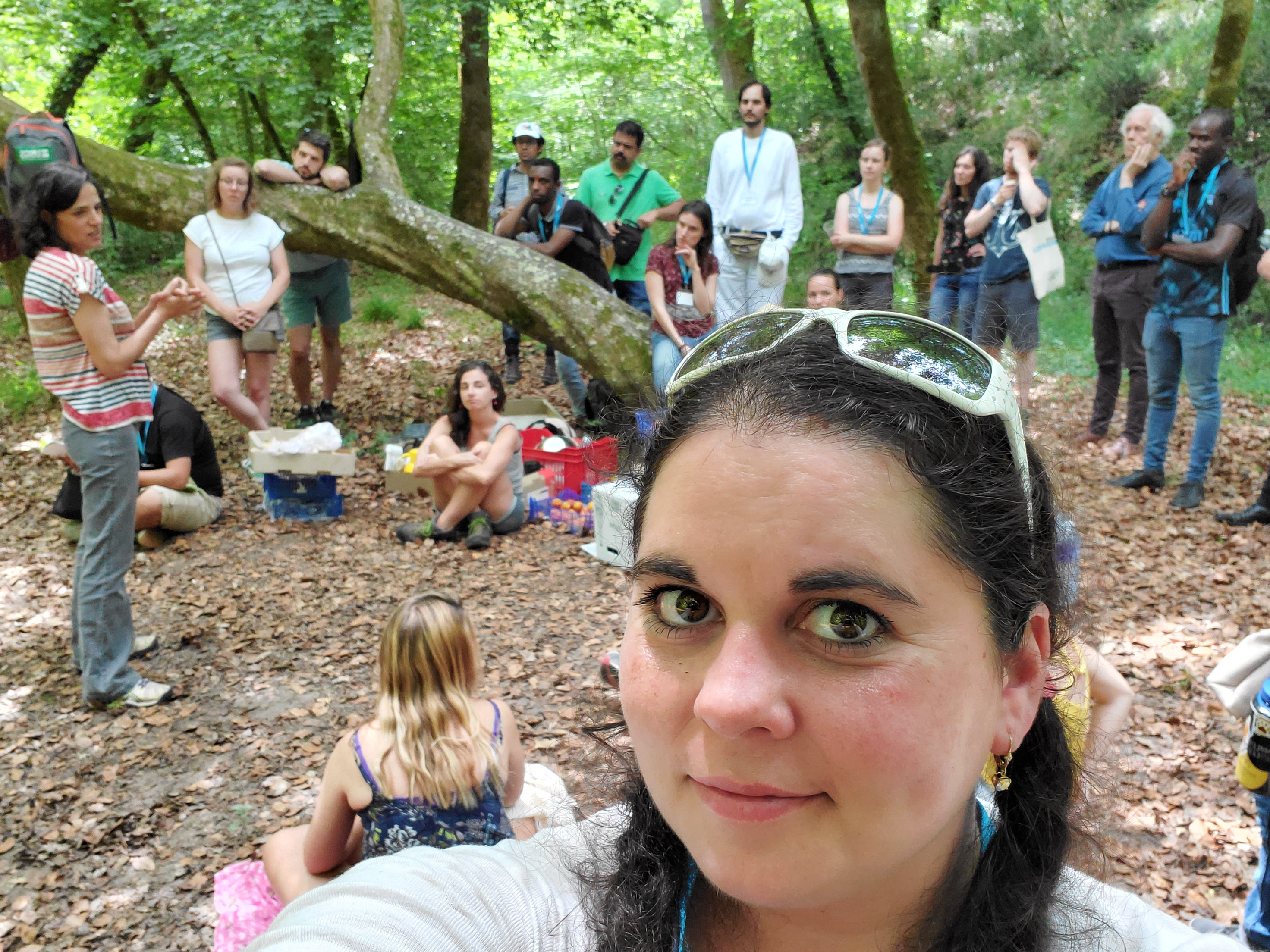 Patricia Covington and fellow program participants explore the forests of France.