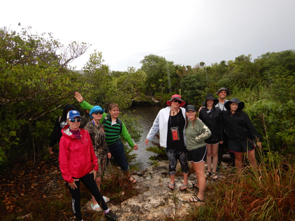 UA Little Rock students conduct research in the Bahamas.