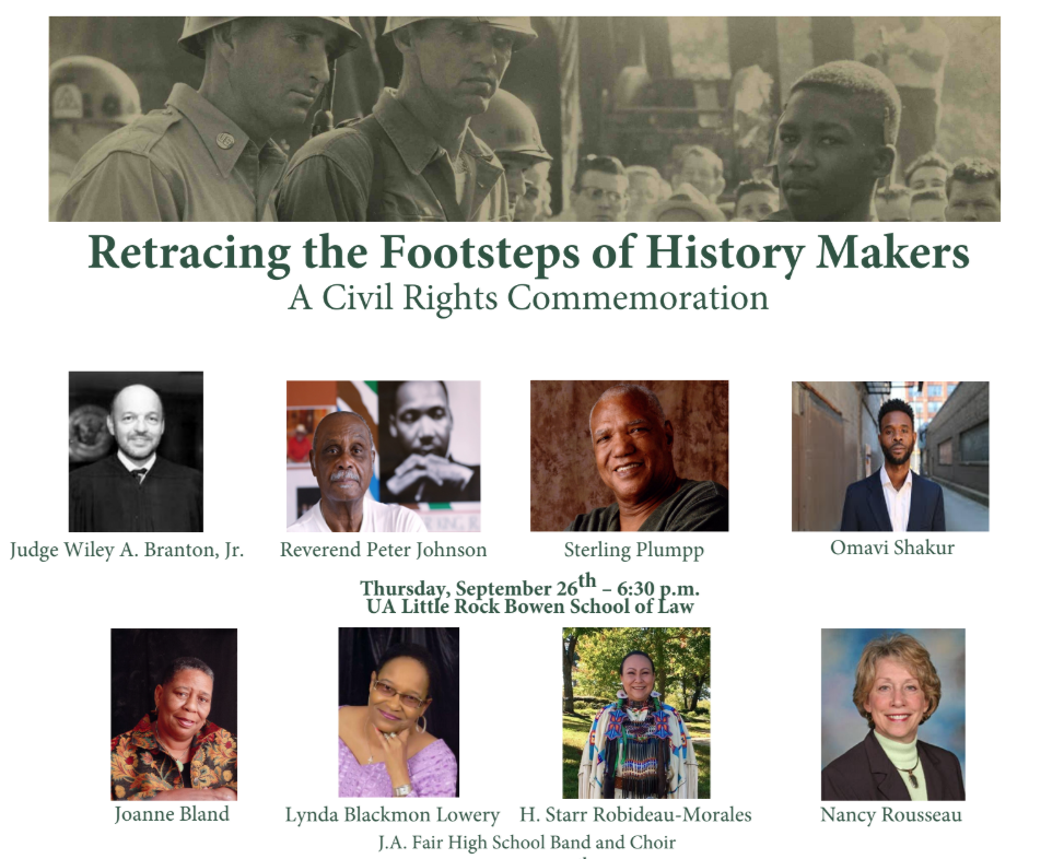 The University of Arkansas at Little Rock will host two events commemorating the 62nd anniversary of the desegregation crisis at Little Rock Central High School in partnership with the Little Rock Central High School National Historic Site.
