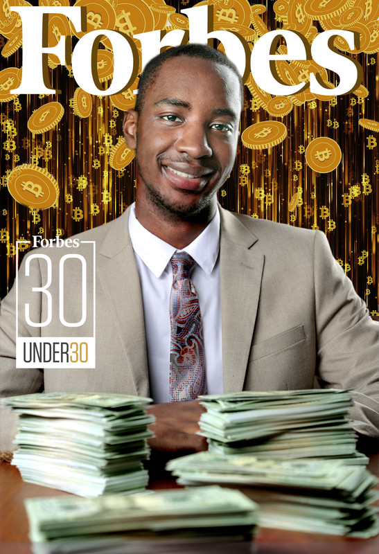 Jared Stovall was named a Forbes 30 Under 30 Scholar for his entrepreneurship in crypto currency. Photo and graphics by Ben Krain.