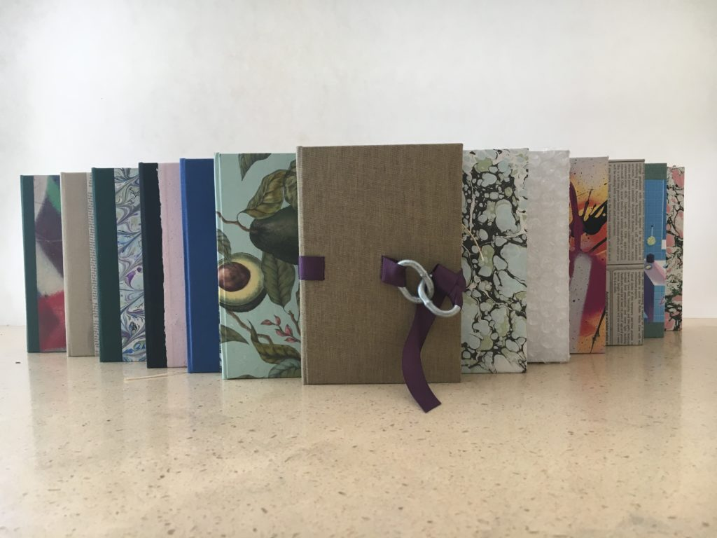 These are a selection of some of the Gundrum's bookbinding work.