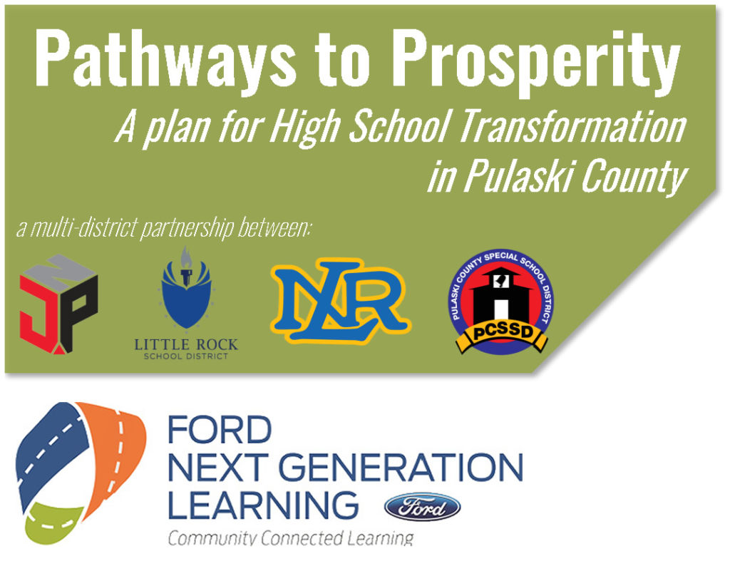 In partnership with Pulaski County school districts, the Little Rock Regional Chamber of Commerce is leading an exploratory study of how the Ford Next Generation Learning initiative could transform local high school experiences by leveraging strong community and business partnerships.