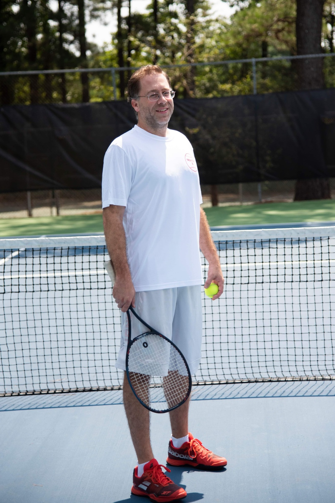 "Power 92 radio deejay and UA Little Rock alumnus Travis ""Tre' Day"" Rowan competes in his annual tennis charity tournament to raise money for mass communication scholarships at UA Little Rock."