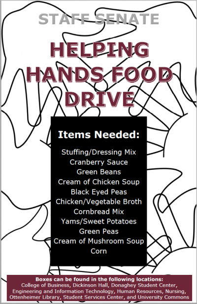 The University of Arkansas at Little Rock Staff Senate is accepting donations for UA Little Rock families in need to receive a free holiday meal basket.