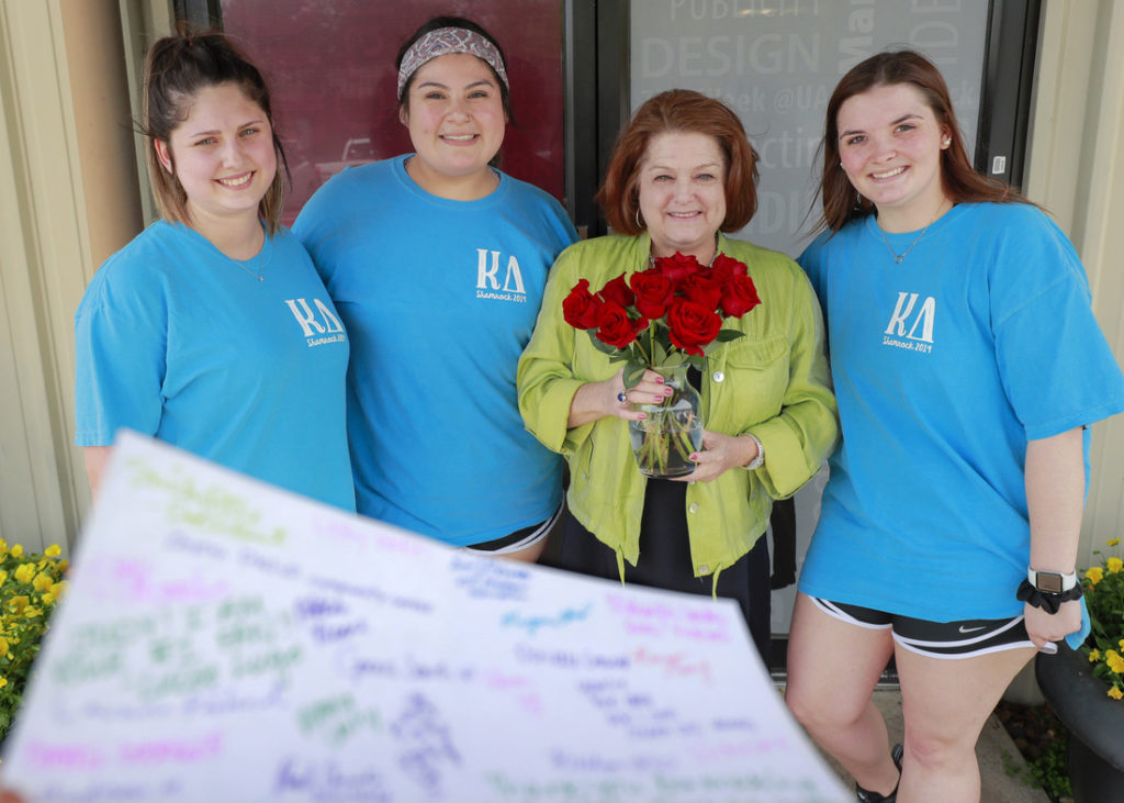 Judy Williams was honored by Kappa Delta sorority as their staff person of the month in April.