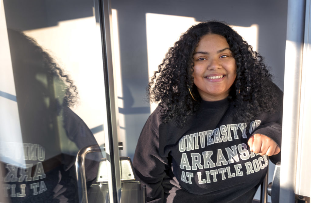 Infinity Wallace is a first-generation student who will graduate on Dec. 14 with a bachelor's degree in criminal justice. She graduated this past May with a bachelor's degree in social work, and is currently enrolled in the Master of Social Work program.