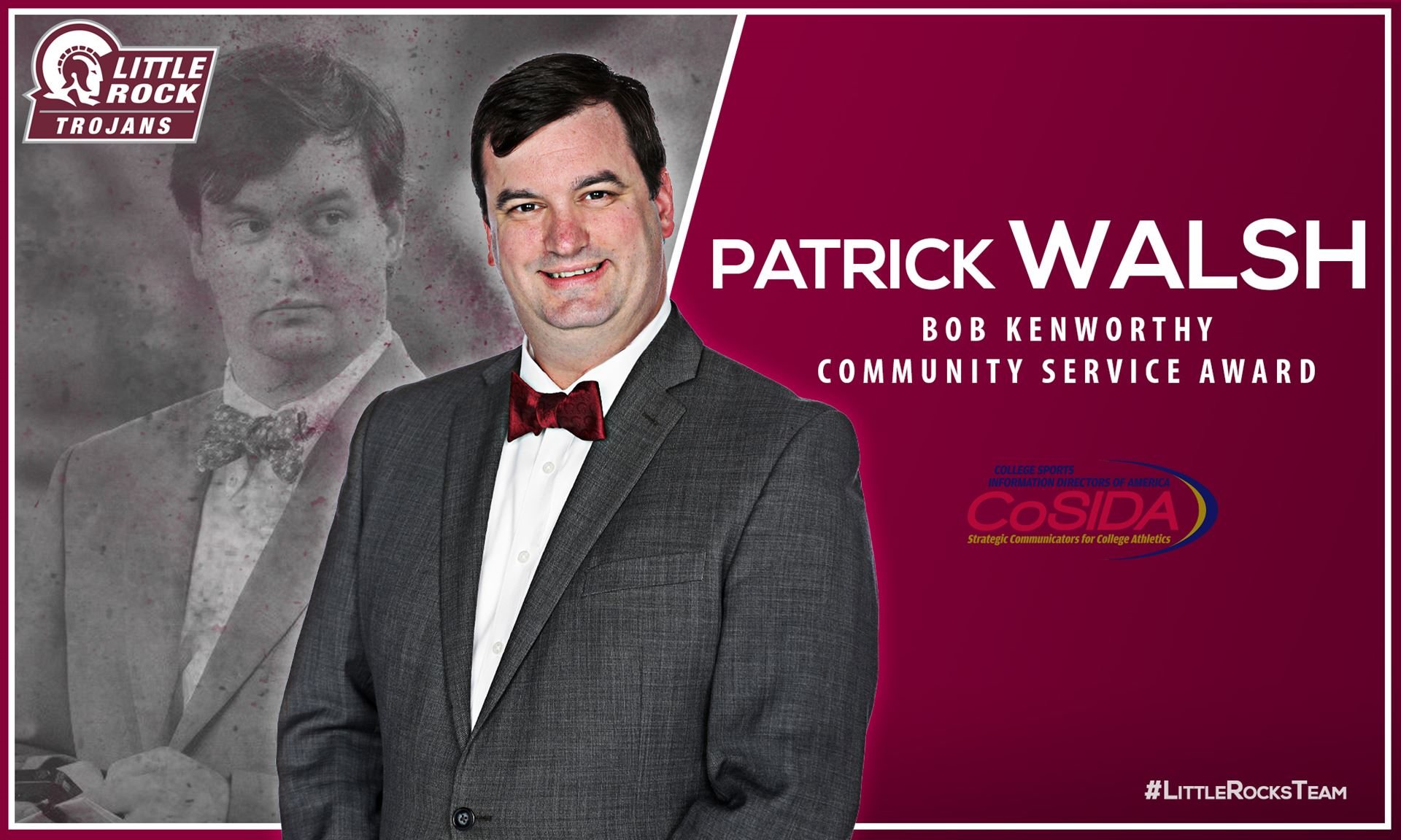 Little Rock Trojans Associate Director of Communications Patrick Walsh