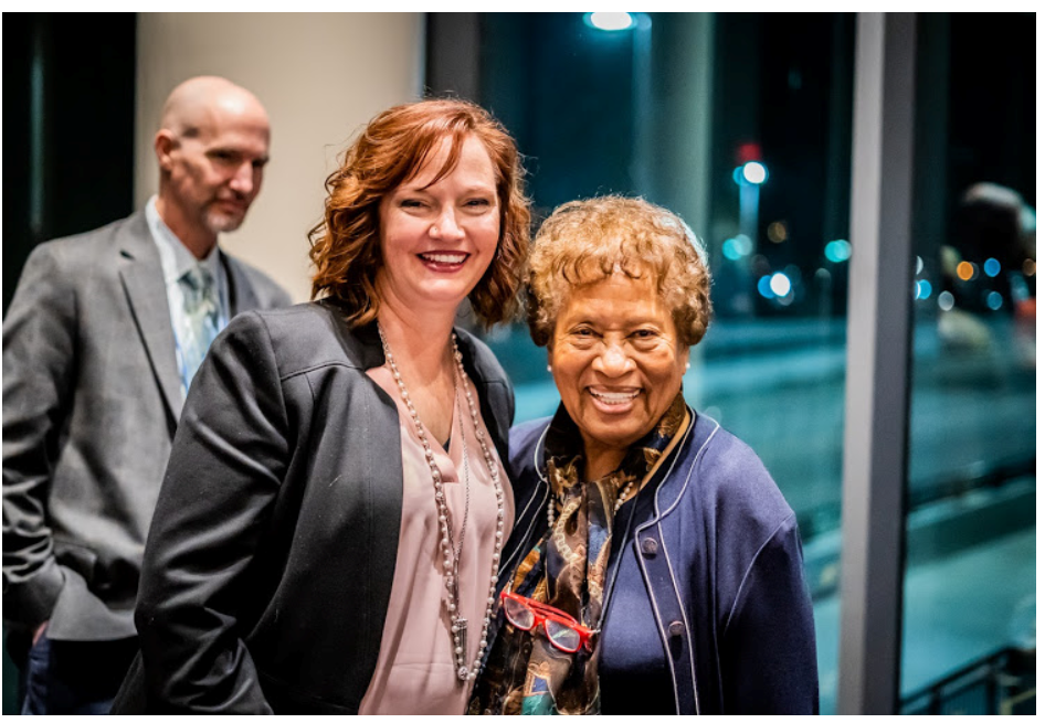 UA Little Rock graduate Leslie Oden and Dr. Joycelyn Elders, the former director of the Arkansas Department of Health and U.S. surgeon general under President Bill Clinton.