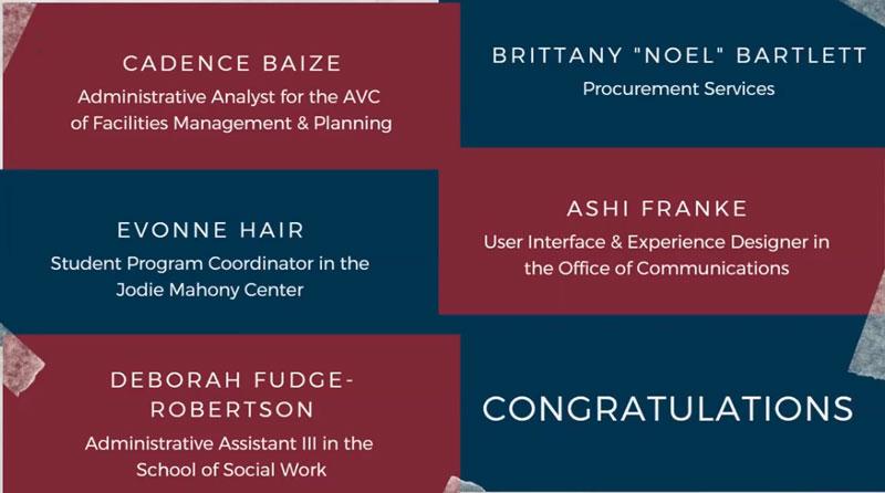 Staff Senate Scholarship winners