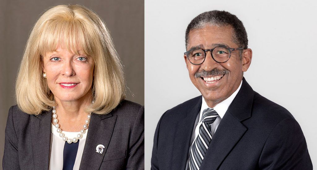 The University of Arkansas at Little Rock will honor outstanding graduates Ron Sheffield, '72 and '89, and Becky Blass, '73 and '82, with its Distinguished Alumni awards during a virtual ceremony at 11:30 a.m. Friday, Oct. 23.