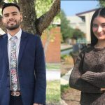 Oscar Gomez, left, and Jenifer Carmona-Garcia, right, are two of the eight UA Little Rock students who are being honored with scholarships from LULAC.