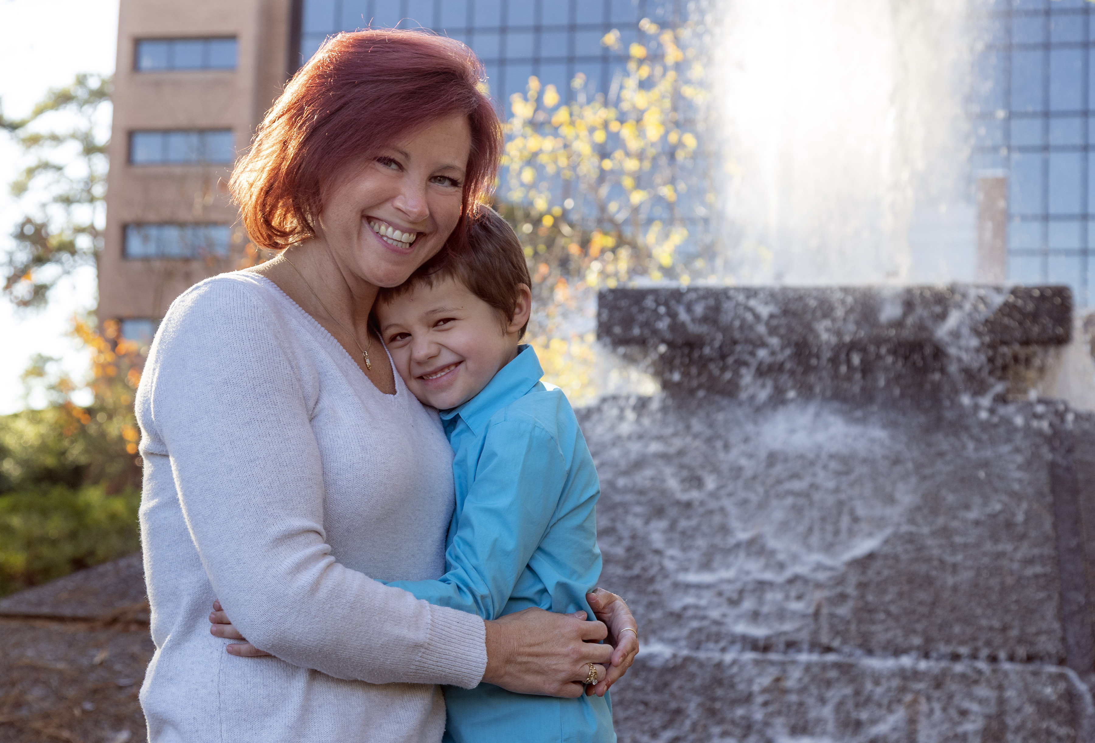 UA Little Rock first-generation student and single mom Erin Clement with her son Ehren. Photo by Ben Krain.