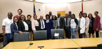 Members of the Black Law Student Association at the William H. Bowen School of Law.