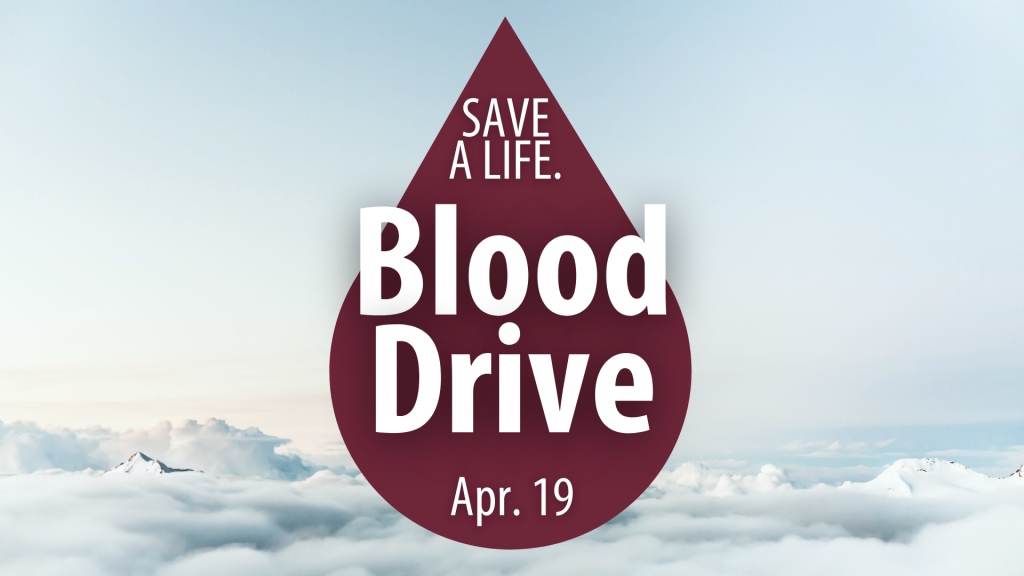 The UA Little Rock Staff Senate will hold a blood drive from 12:30-4 p.m. Monday, April 19, in the Fitness Center in the Donaghey Student Center.