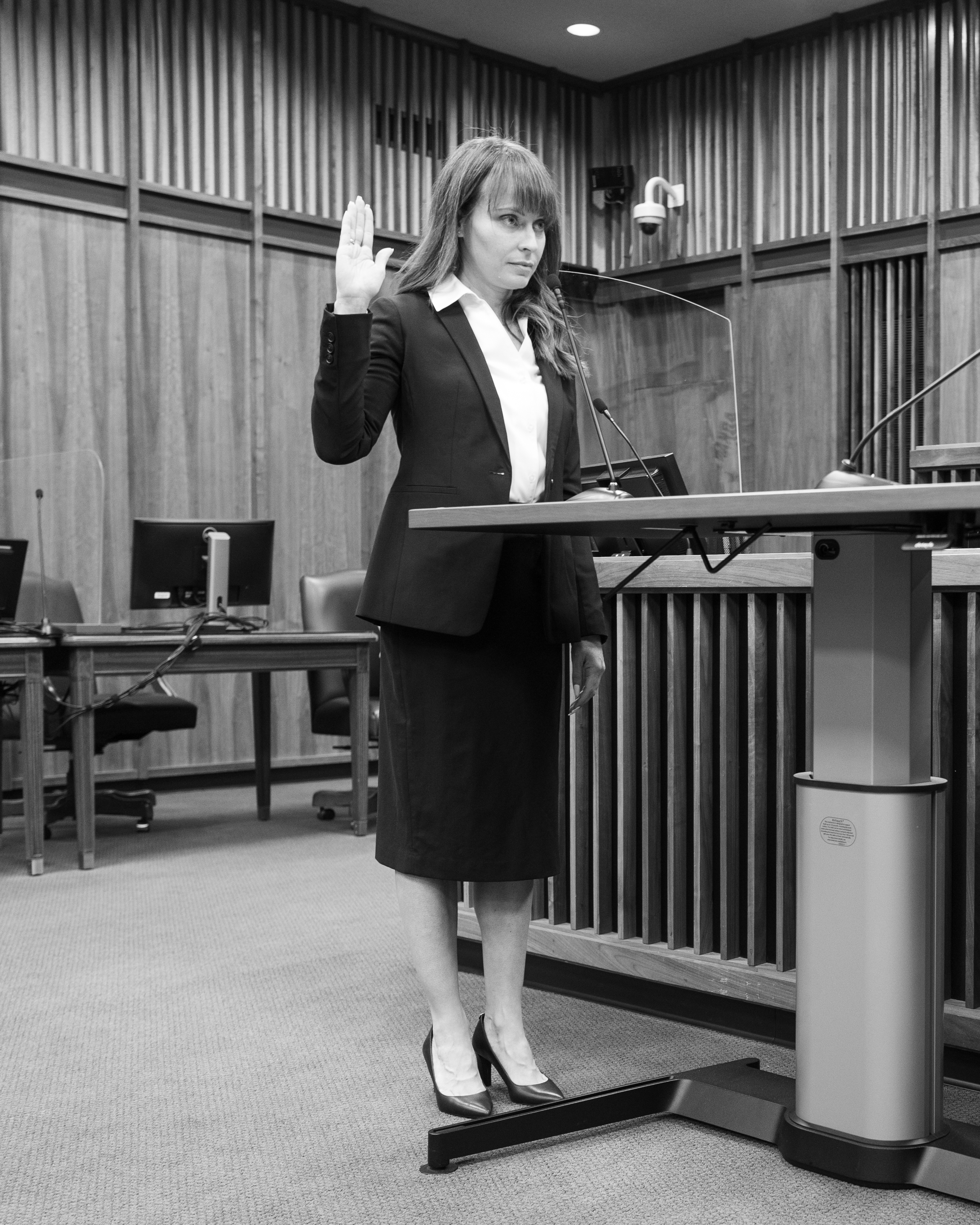 Bianca Gatchell Rucker is sworn in as the U.S. Bankruptcy Judge for the Eastern and Western Districts of Arkansas on April 26.