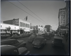 Downtown Little Rock in 1951. Photo Courtesy of the CAHC collection: Earl Saunders, Jr. Photograph Collection.