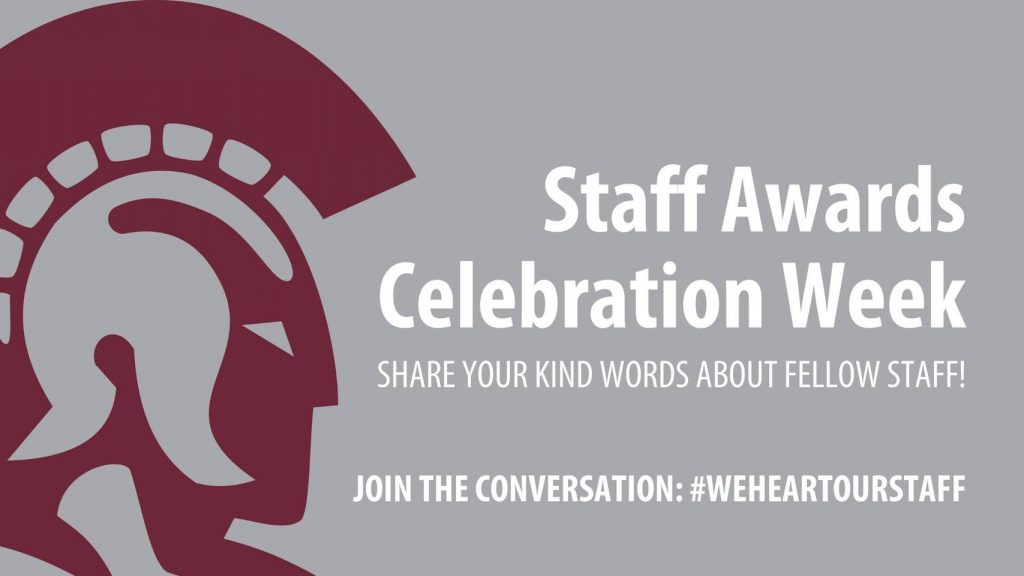 The 2021 Staff Celebration Week will be April 5-9.