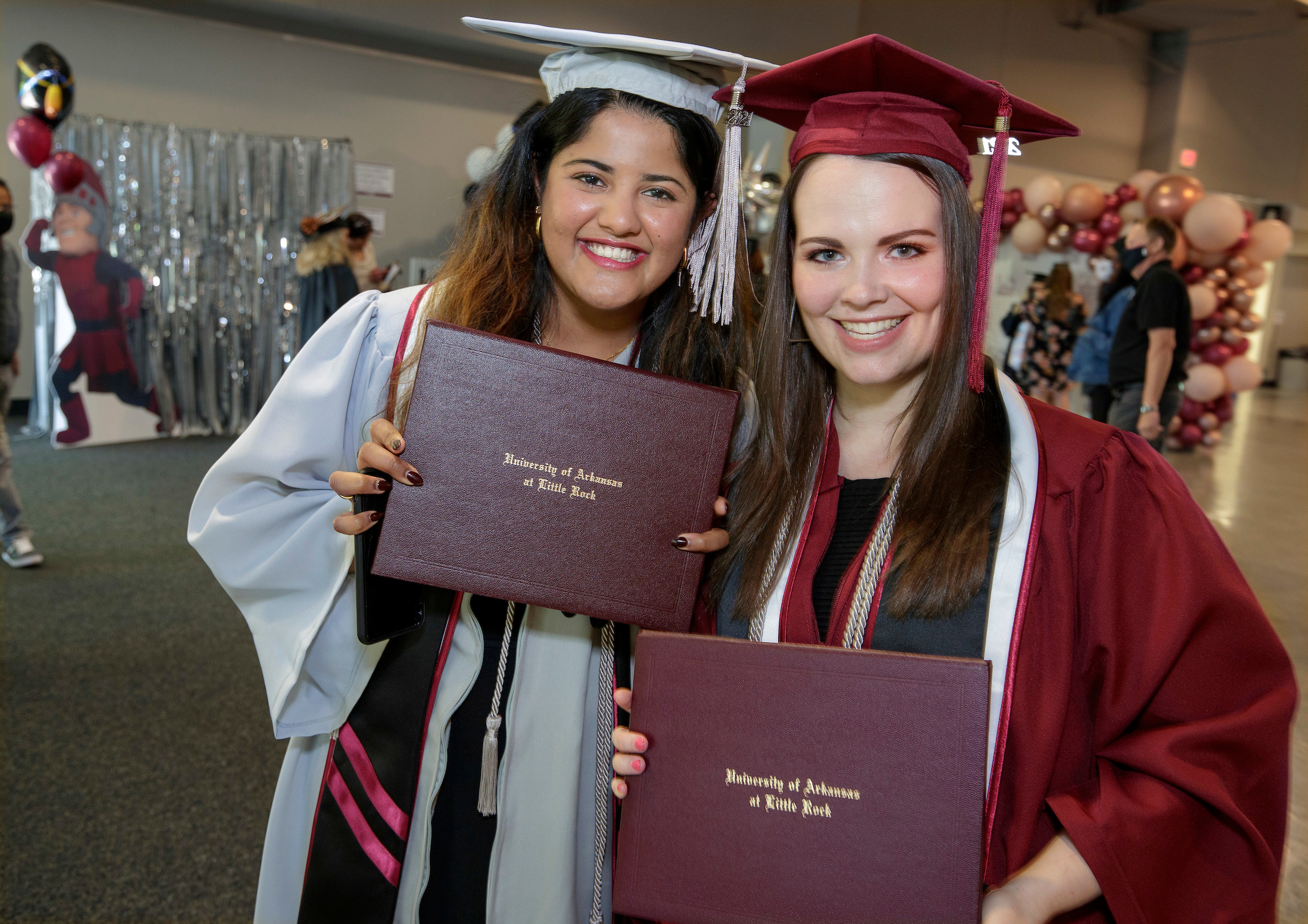 UA Little Rock graduates are honored during a 2021 Spring Hybrid Commencement Ceremony. Photo by Ben Krain.