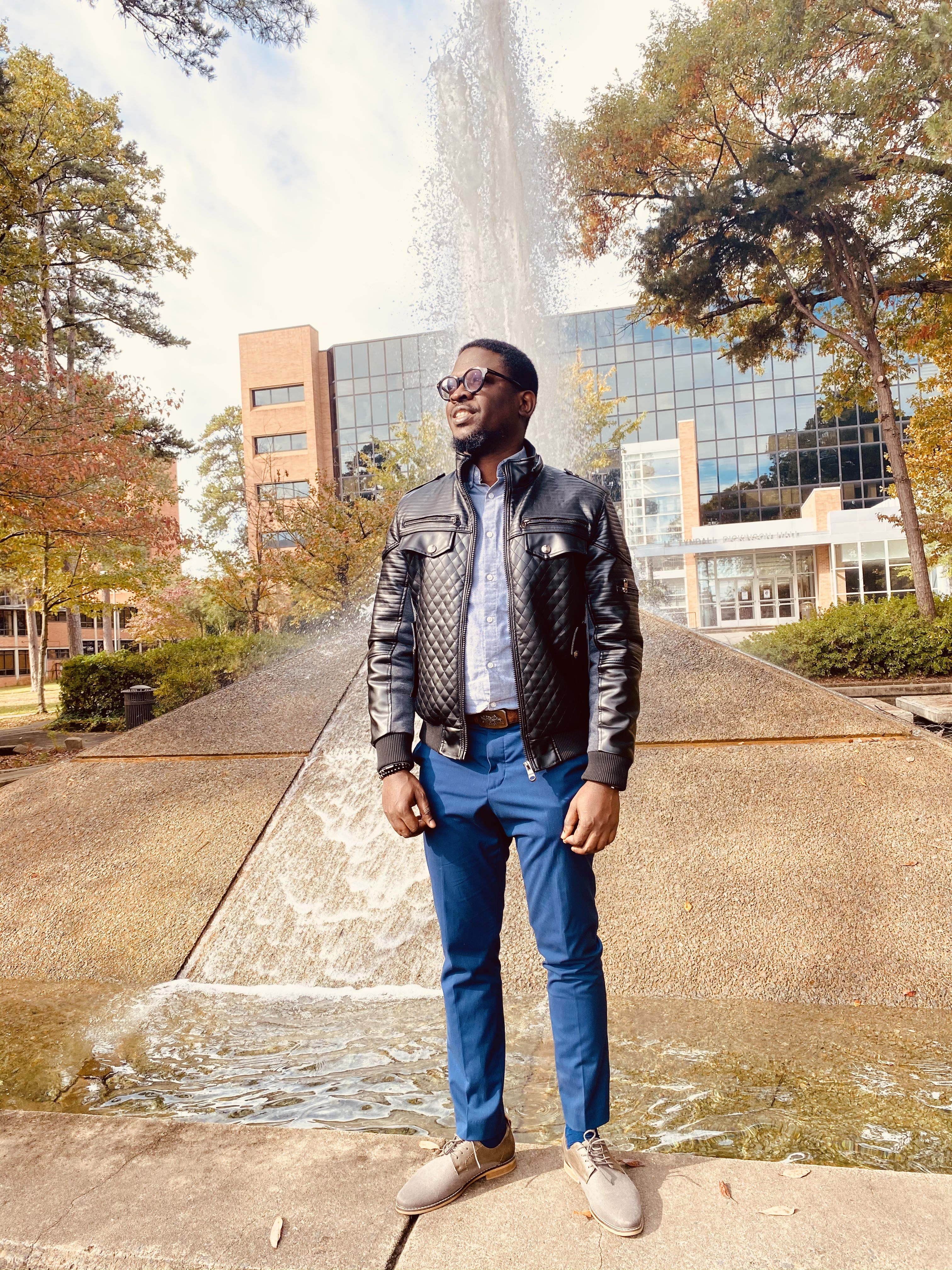 """Babatunji """"Ted"""" Ogunjobi is graduating this month with a master's degree in business information systems from UA Little Rock and a perfect 4.0 GPA."""