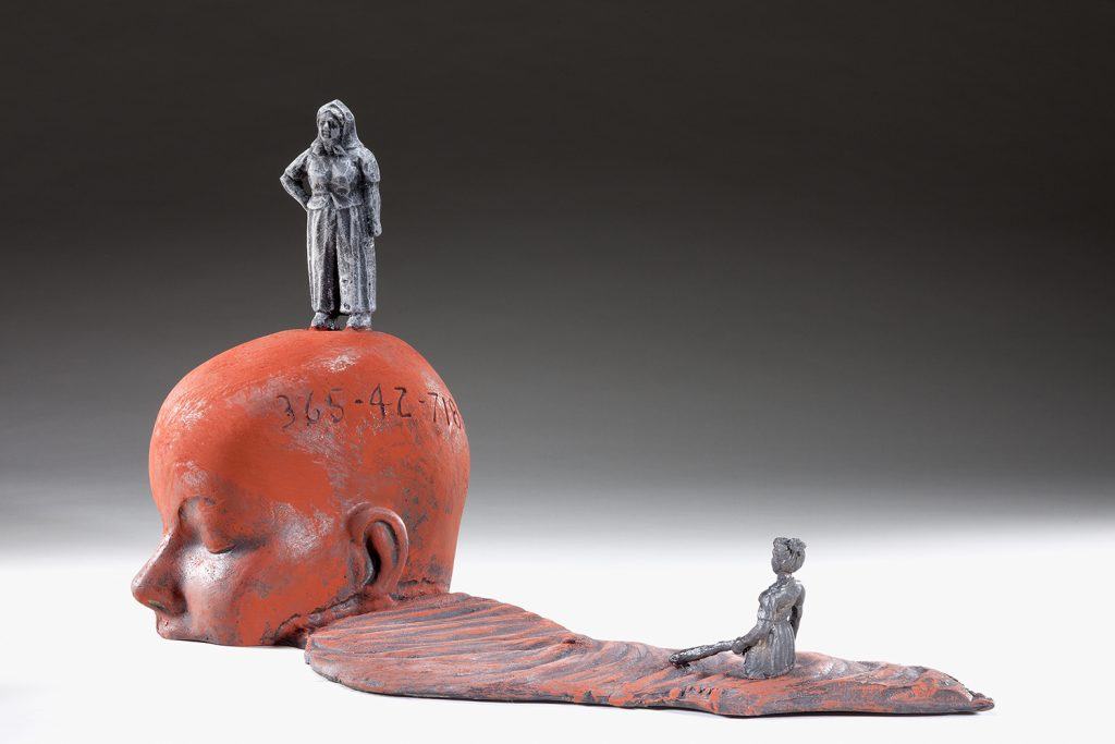 """This piece by Michael Warrick will appear in a new exhibit, """"Michael Warrick: Clay, Metal, Stone, Wood."""""""