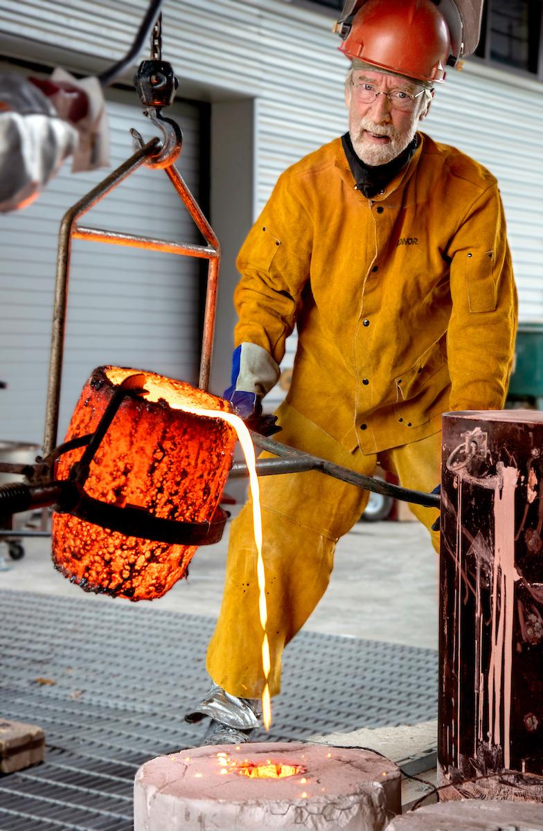 Michael Warrick UA Little Rock Art Department Sculpture Professor