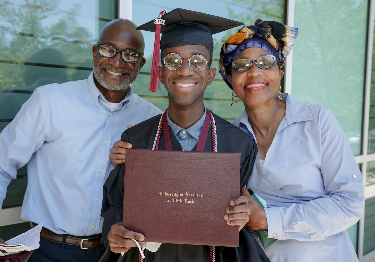 UA Little Rock graduates are honored during a 2021 Spring Hybrid Commencement Ceremony