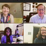 KUAR News 2021 Diamond Journalism Award recipients - (clockwise from top left) Sarah Kellogg, Michael Hibblen, Daniel Breen, Alexandria Brown
