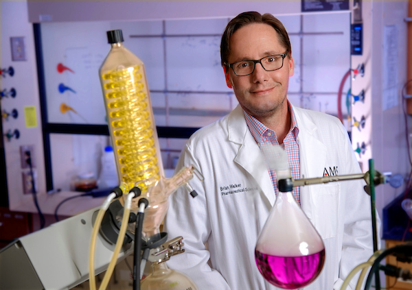 Brian Walker, UA Little Rock assistant professor of chemistry, was named the Central Arkansas Professor of the Year by the Central Arkansas American Chemical Society.