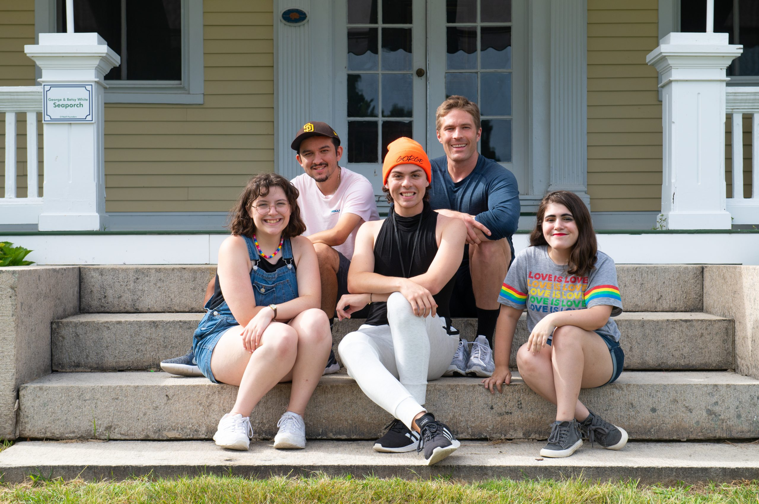 Gage Pipkin, center, is one of five playwrights. Photo by Isaak Berliner, resident photographer for the O'Neill Center.