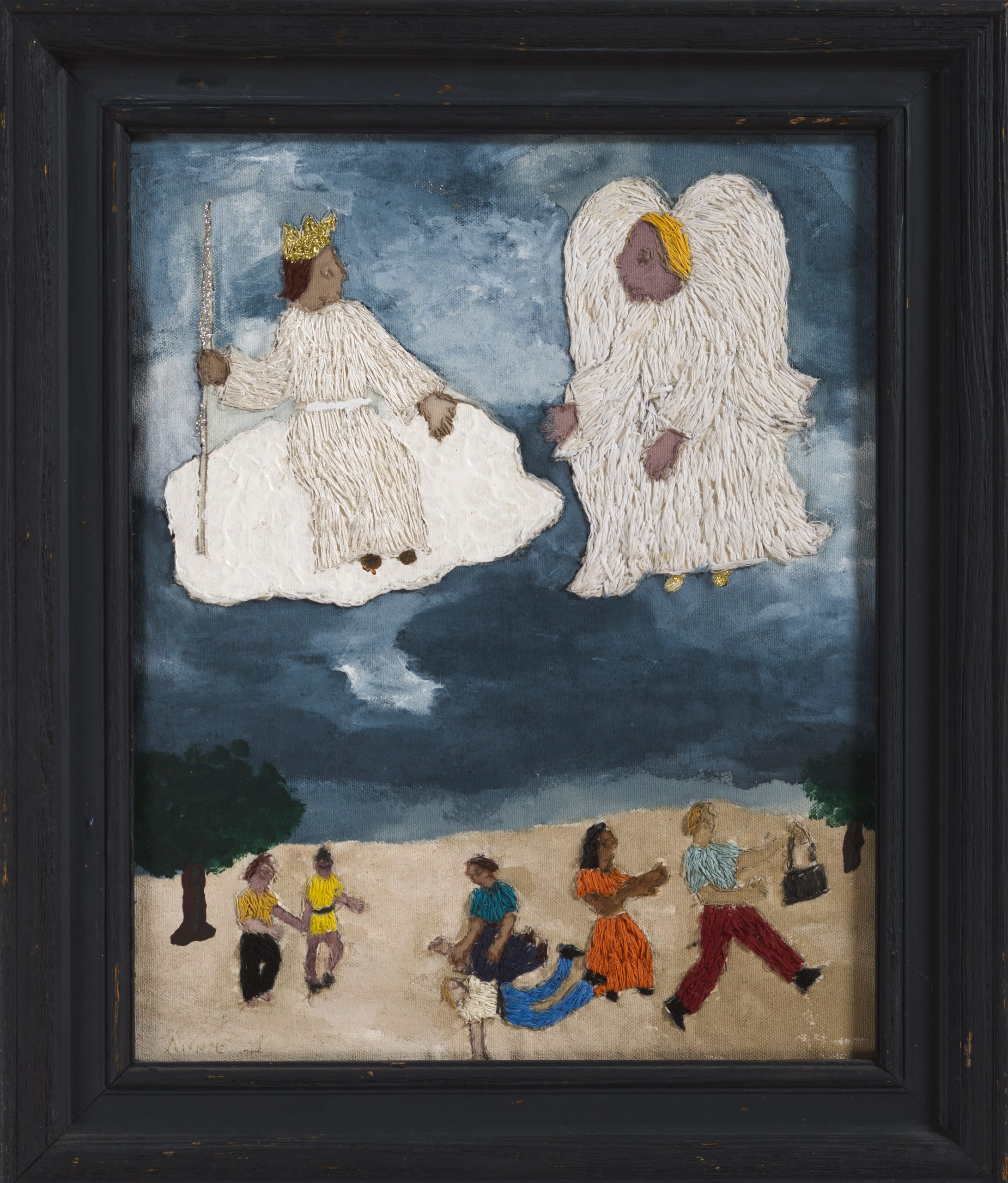 """Annie Lucus's 1964 """"Angels on High"""" will be displayed in the exhibition at the Windgate Center of Art and Design."""