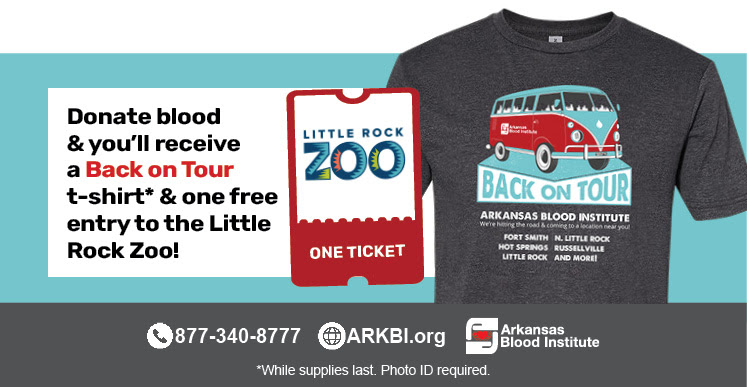 UA Little Rock Staff Senate will hold a Blood Drive in the Donaghey Student Center Fitness Center from 10 a.m. to 3 p.m. on Sept. 28.