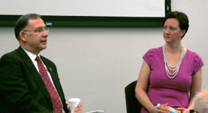 Sen. John Boozman, R-Ark., (L) and Dr. Sherry Robertson.